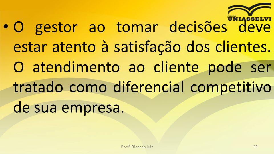 • E outro ponto a ser observado no perfil do gestor é a importância que ele dá ao acionista, ou seja, a pessoa que está investindo no seu negócio.