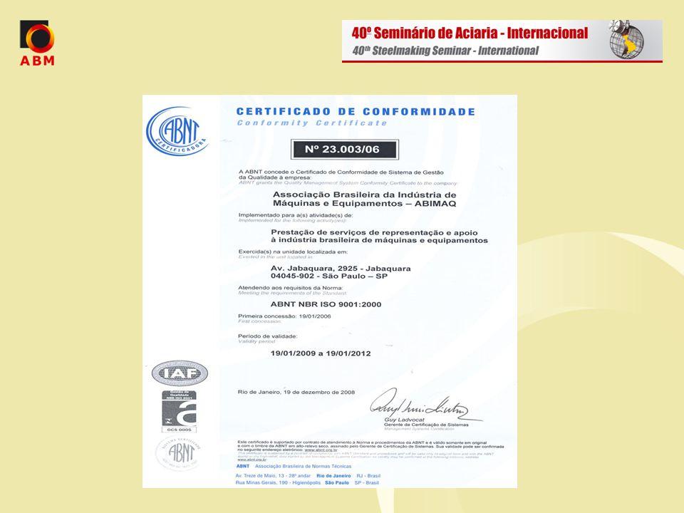  Entidade nacional, possui cerca de 1.349 associadas;  Representa cerca de 4.500 fabricantes em território nacional;  Sede em São Paulo/S.P.;  Possui 09 Regionais, 01 Escritório em Brasília e 01 Escritório em Pequim - China;