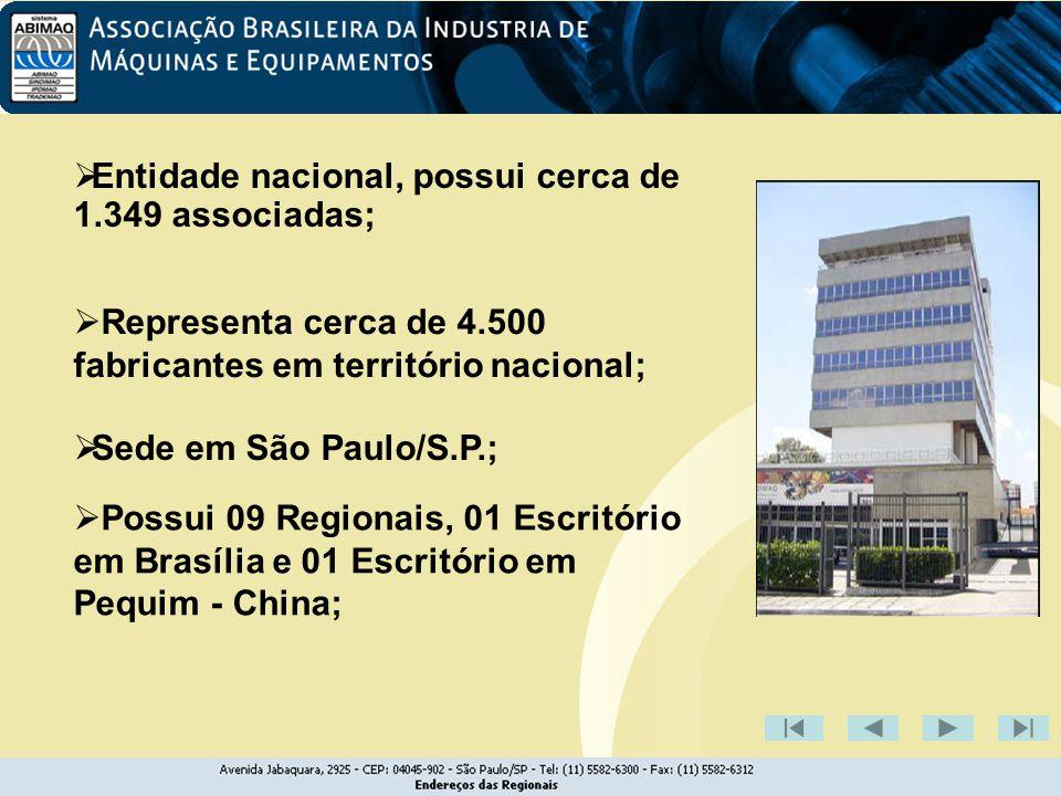 Escritório de representação da ABIMAQ na China ESCRITÓRIO DA ABIMAQ EM CARACAS - instalação de escritório da PDVSA dentro da ABIMAQ, e de outro da entidade na estatal venezuelana.