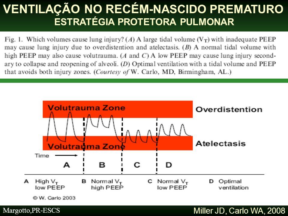 Determinação do Volume Corrente (VC) VENTILAÇÃO NO RECÉM NASCID- PREMATURO ESTRATÉGIA PROTETORA PULMONAR Margotto,PR-ESCS