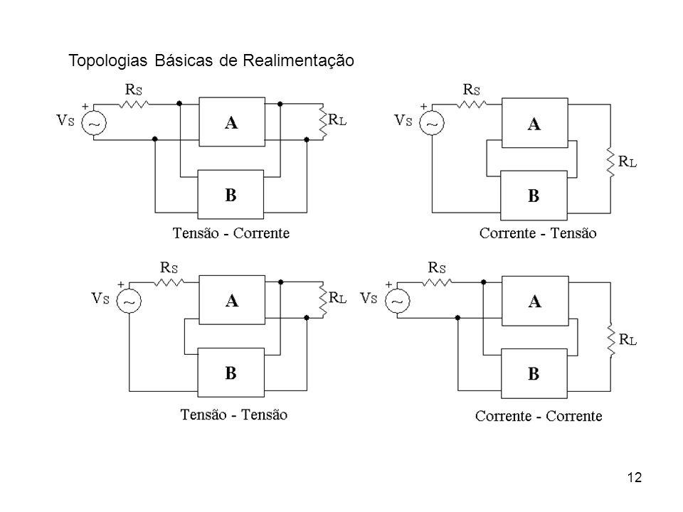 13 Análise de Realimentação Tensão - Corrente Conexão paralela-paralelaAnálise por parámetros Y Semelhante Para B
