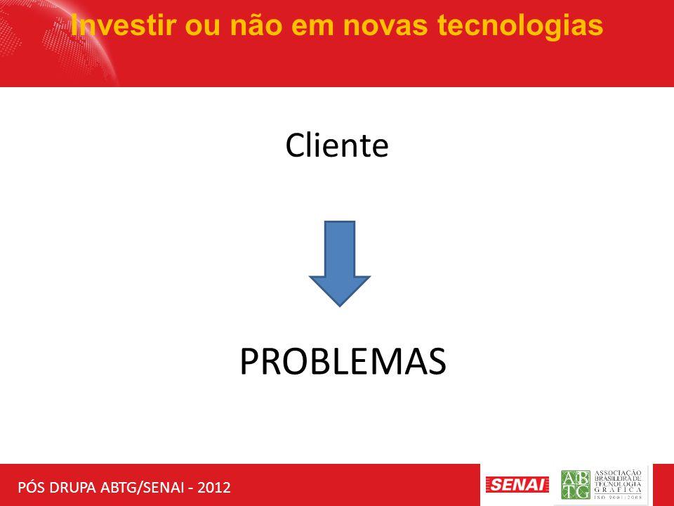 PÓS DRUPA ABTG/SENAI - 2012 Investir ou não em novas tecnologias Sucesso no século XXI Inovação Eficiência Operacional