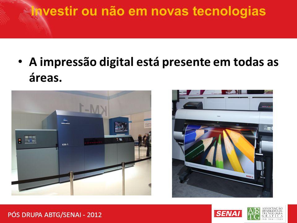 PÓS DRUPA ABTG/SENAI - 2012 Investir ou não em novas tecnologias Mas a offset continua se adaptando aos novos modelos de negócios.