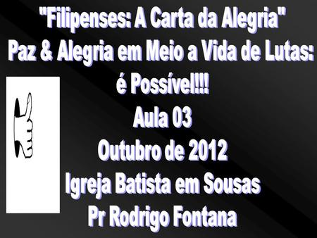 Filipenses: A Carta da Alegria