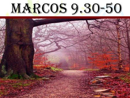 MARCOS 9.30-50.