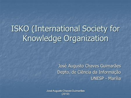 ISKO (International Society for Knowledge Organization