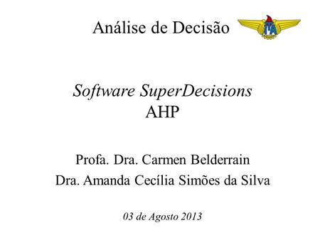 Software SuperDecisions AHP