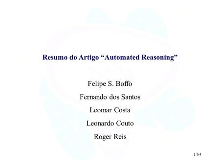"Resumo do Artigo ""Automated Reasoning"""