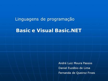 Basic e Visual Basic.NET