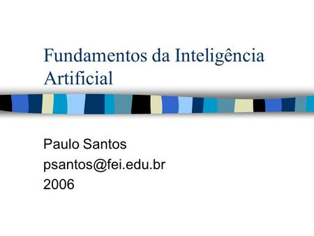 Fundamentos da Inteligência Artificial