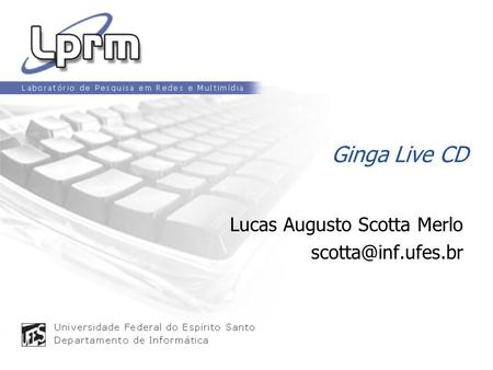 Ginga Live CD Lucas Augusto Scotta Merlo