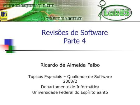 Revisões de Software Parte 4