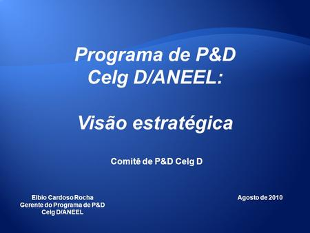 Gerente do Programa de P&D