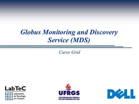 Curso Grid Globus Monitoring and Discovery Service (MDS)