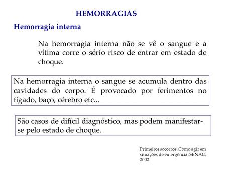 HEMORRAGIAS Hemorragia interna