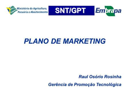 PLANO DE MARKETING Raul Osório Rosinha