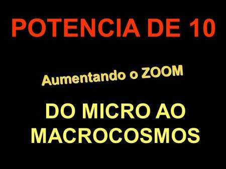 DO MICRO AO MACROCOSMOS
