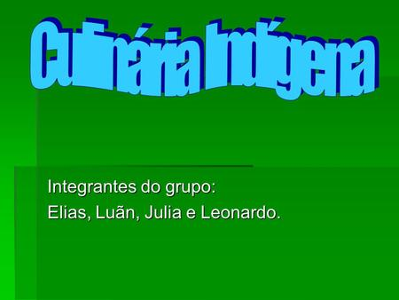 Integrantes do grupo: Elias, Luãn, Julia e Leonardo.