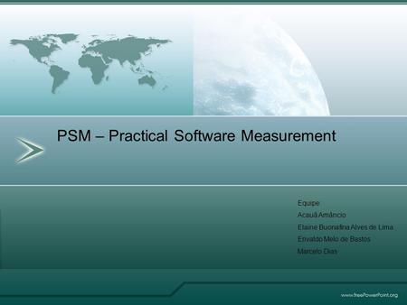 PSM – Practical Software Measurement