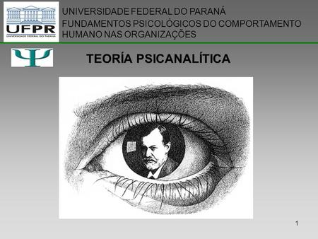 TEORÍA PSICANALÍTICA UNIVERSIDADE FEDERAL DO PARANÁ