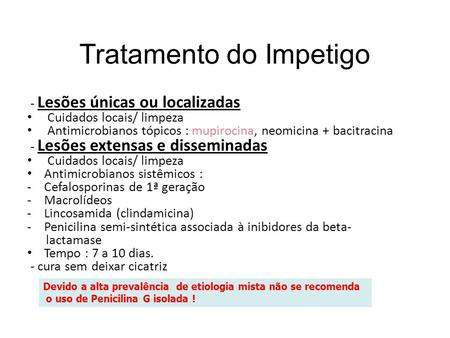 Tratamento do Impetigo