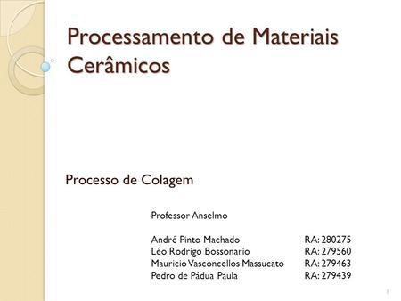 Materiais ceramicos propriedades