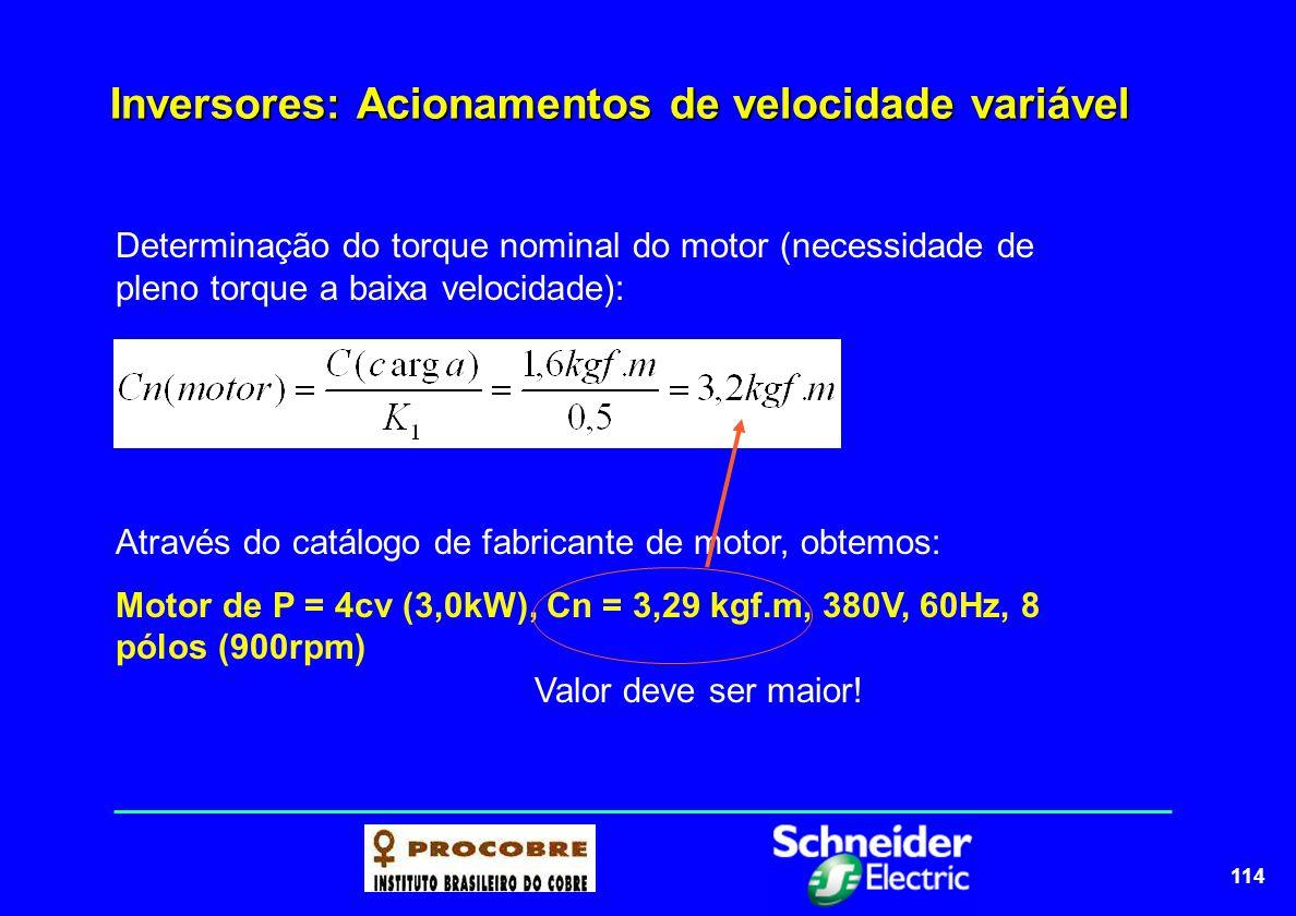 115 Inversores: Acionamentos de velocidade variável PROVA: Marque com Verdadeiro (V) ou Falso (F) ( ) O motor acionado por inversor apresenta características de torque constante de 6 a 60Hz.