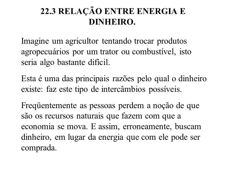22.3 RELAÇÃO ENTRE ENERGIA E DINHEIRO.