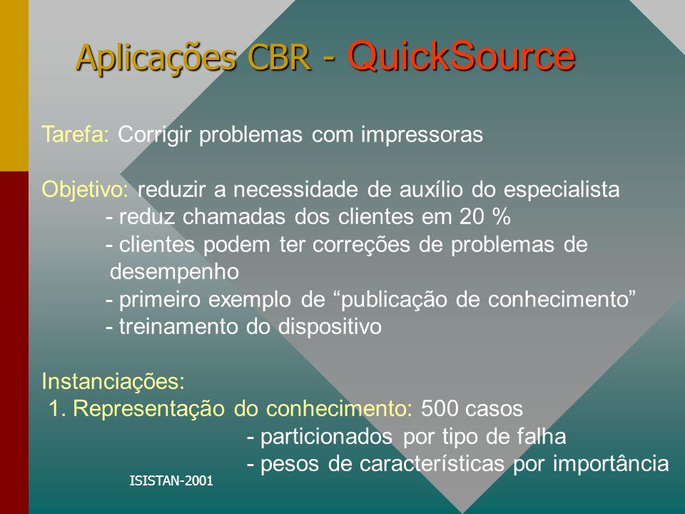 ISISTAN-2001 Aplicações CBR - QuickSource 2.