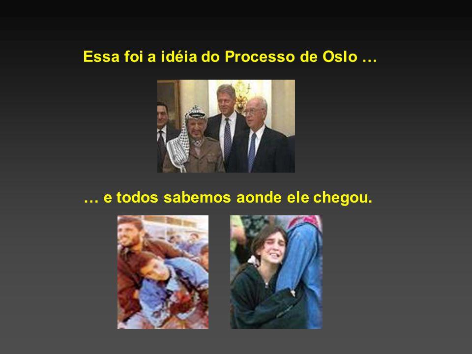 Essa foi a idéia do Processo de Oslo … … e todos sabemos aonde ele chegou.