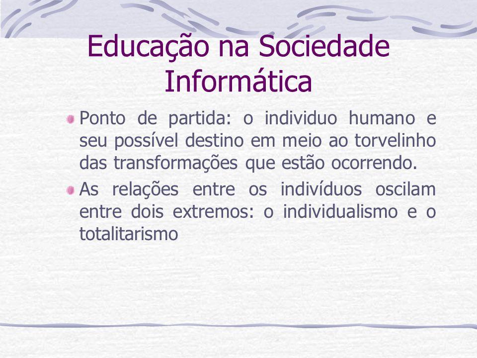 Educação na Sociedade Informática Quais as contradições e ameaças predominantes na sociedade informática.