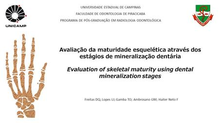Evaluation of skeletal maturity using dental mineralization stages