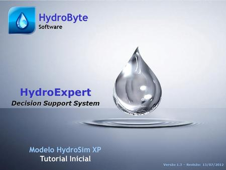ST HydroExpert 1 Version 1.3 ©2012 - HydroByte Software HydroExpert Decision Support System Modelo HydroSim XP Tutorial Inicial Versão 1.3 – Revisão: 13/07/2012.