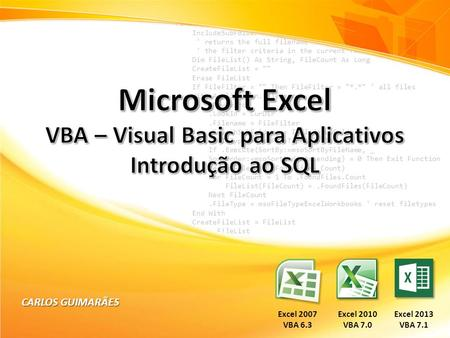 VBA – Visual Basic para Aplicativos
