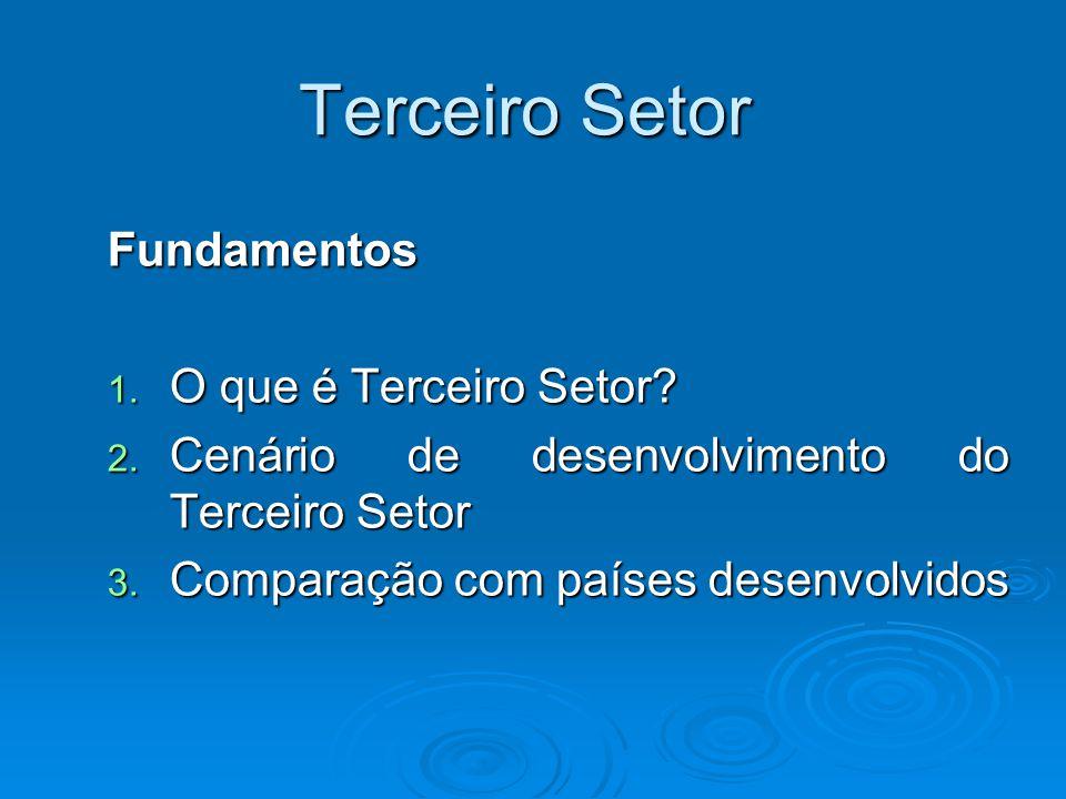 1.O que é o Terceiro Setor I Setor Governo II Setor Empresas III Setor Org.