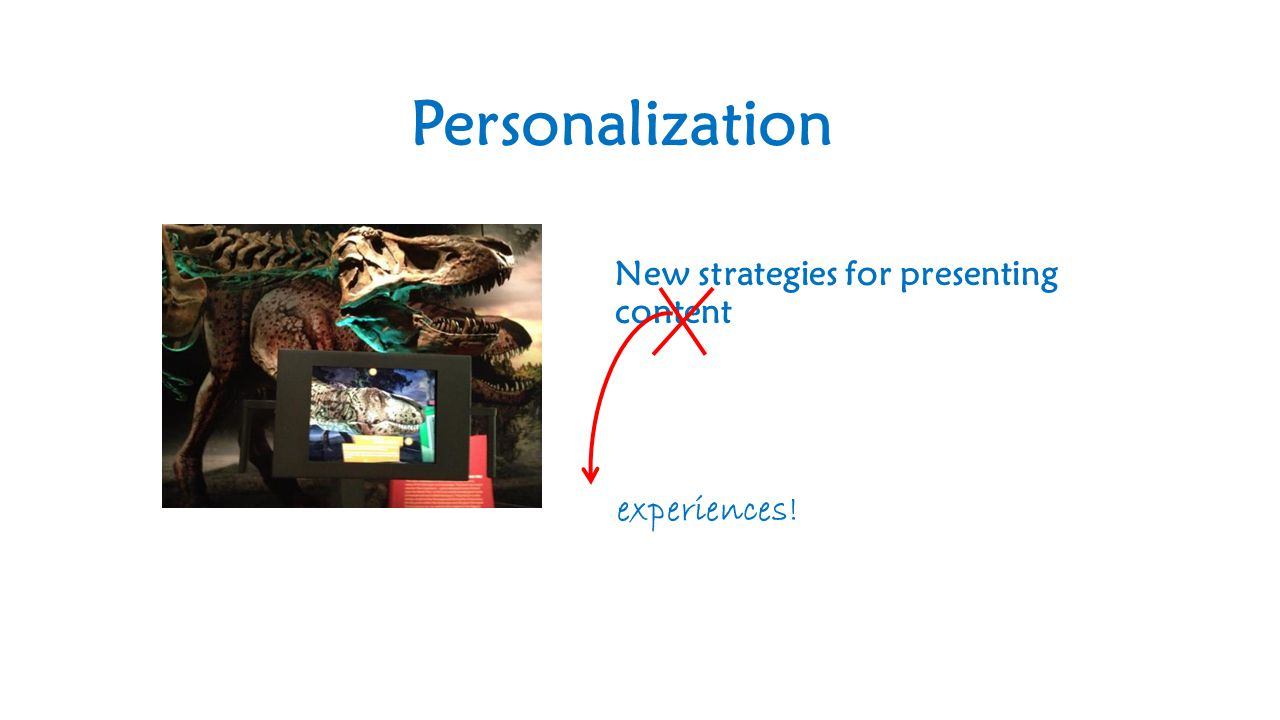 New strategies for presenting content experiences! Personalization
