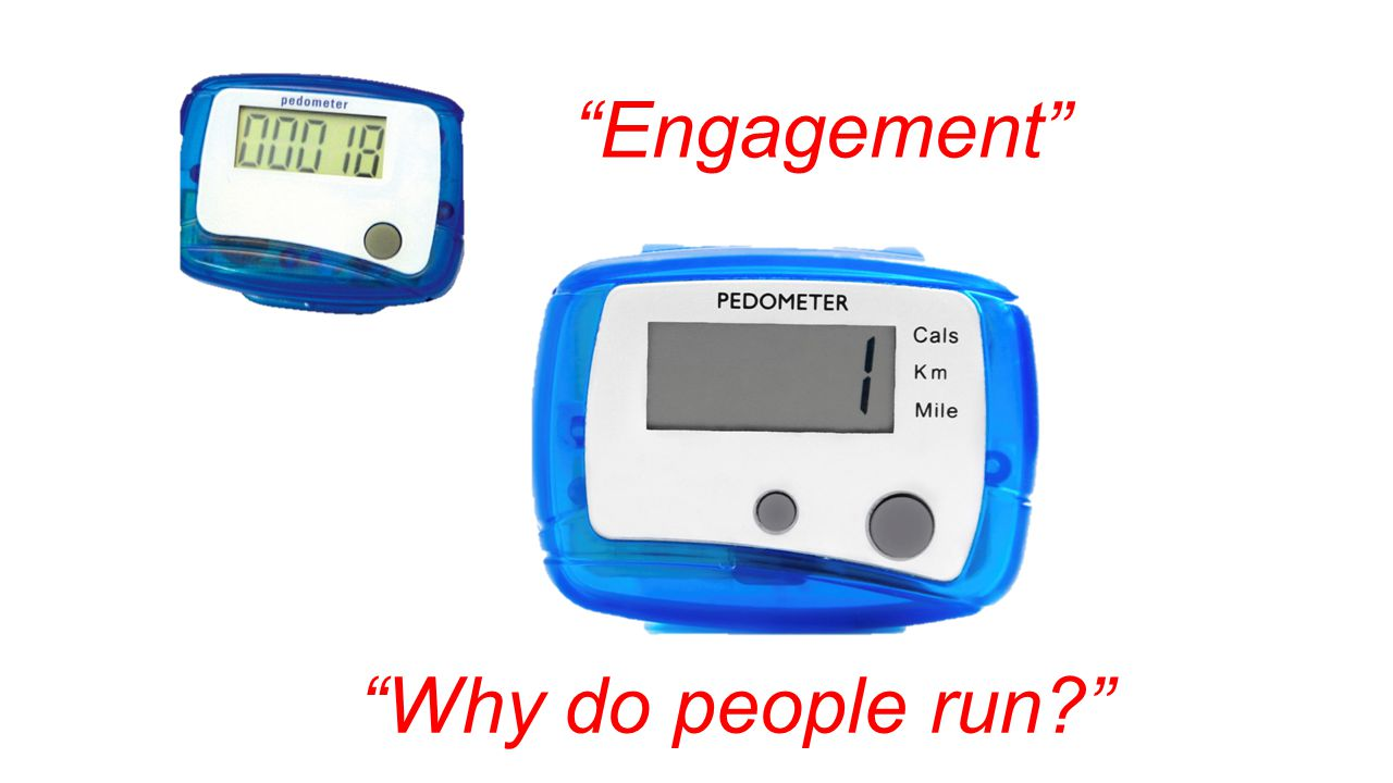 Engagement Why do people run?