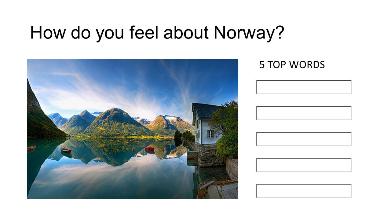How do you feel about Norway? 5 TOP WORDS