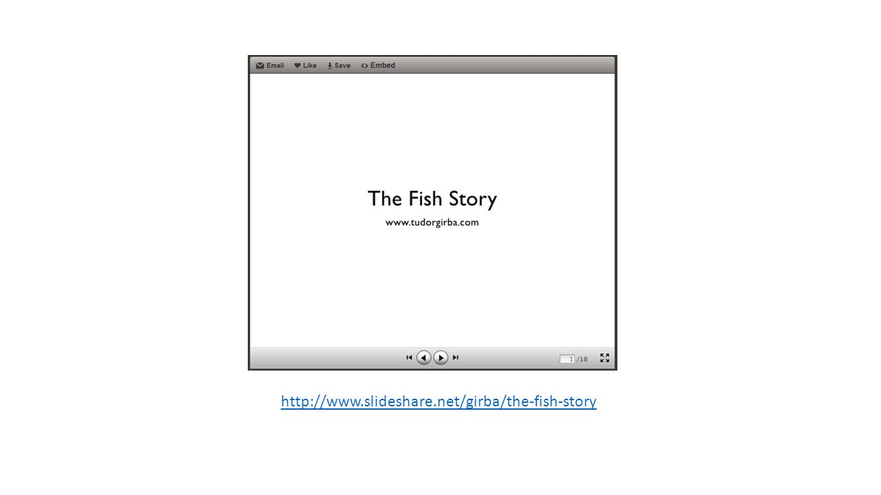 http://www.slideshare.net/girba/the-fish-story