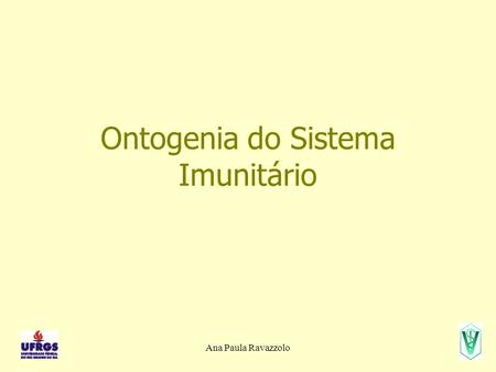 Ontogenia do Sistema Imunitário