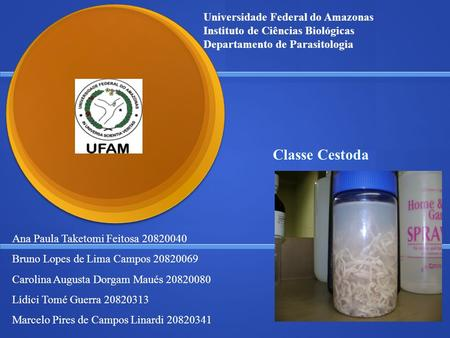 Classe Cestoda Universidade Federal do Amazonas