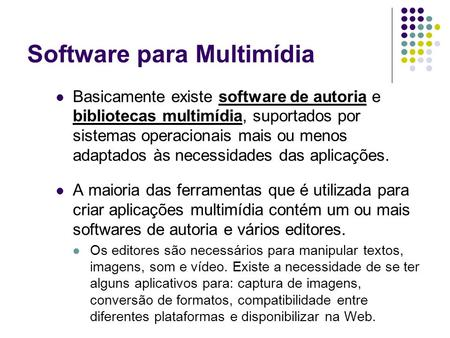 Software para Multimídia