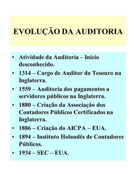 Apresentacoes contabilidade e auditoria