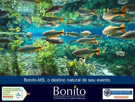 Bonito-MS, o destino natural de seu evento.