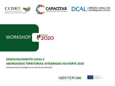 WORKSHOP DESENVOLVIMENTO LOCAL E