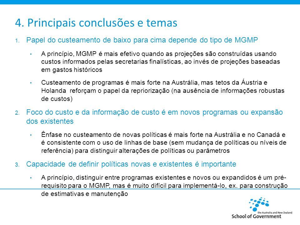 4.Principais conclusões e temas 4.