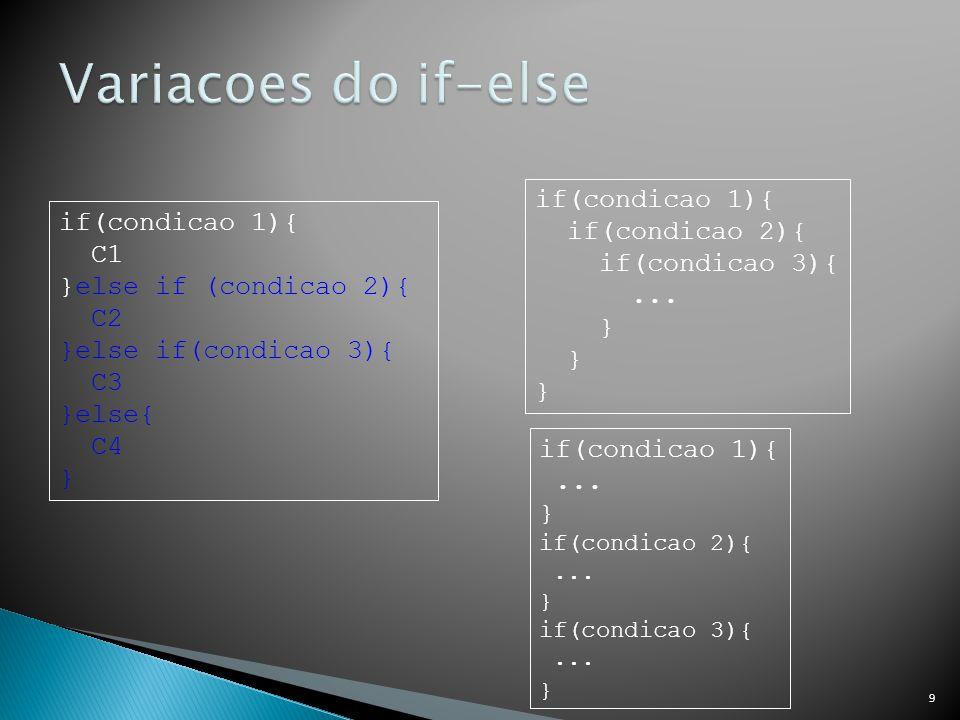  Cada código que estiver dentro de um bloco deve estar um nível a mais de indentação à direita do bloco mais externo.