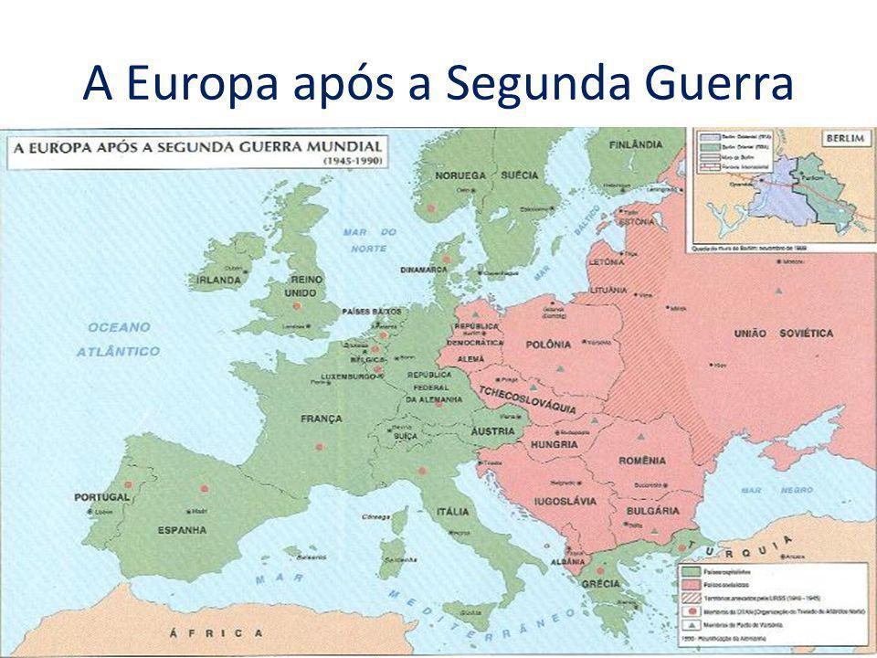 Após a Segunda Guerra, líderes de países Europeus perceberam a necessidade de: 1 – Evitar novos conflitos entre as potências do continente.