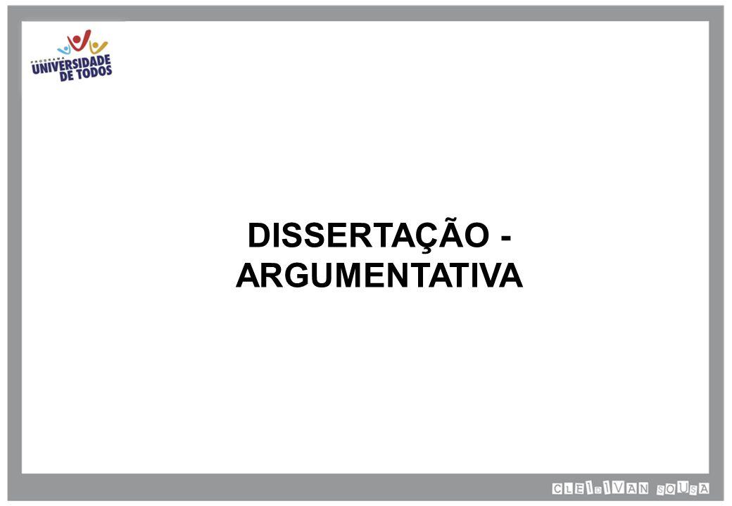 O texto dissertativo consiste na exposição, discussão ou interpretação de uma determinada ideia.