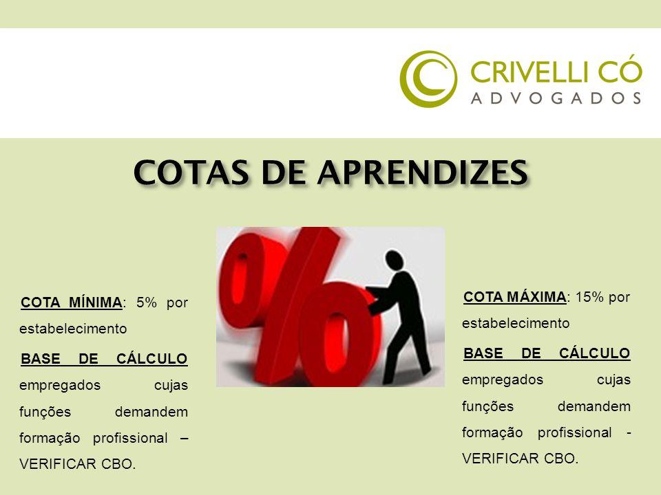 COTAS DE APRENDIZES QUEM É EXCLUÍDO DA BASE DE CÁLCULO DA COTA.